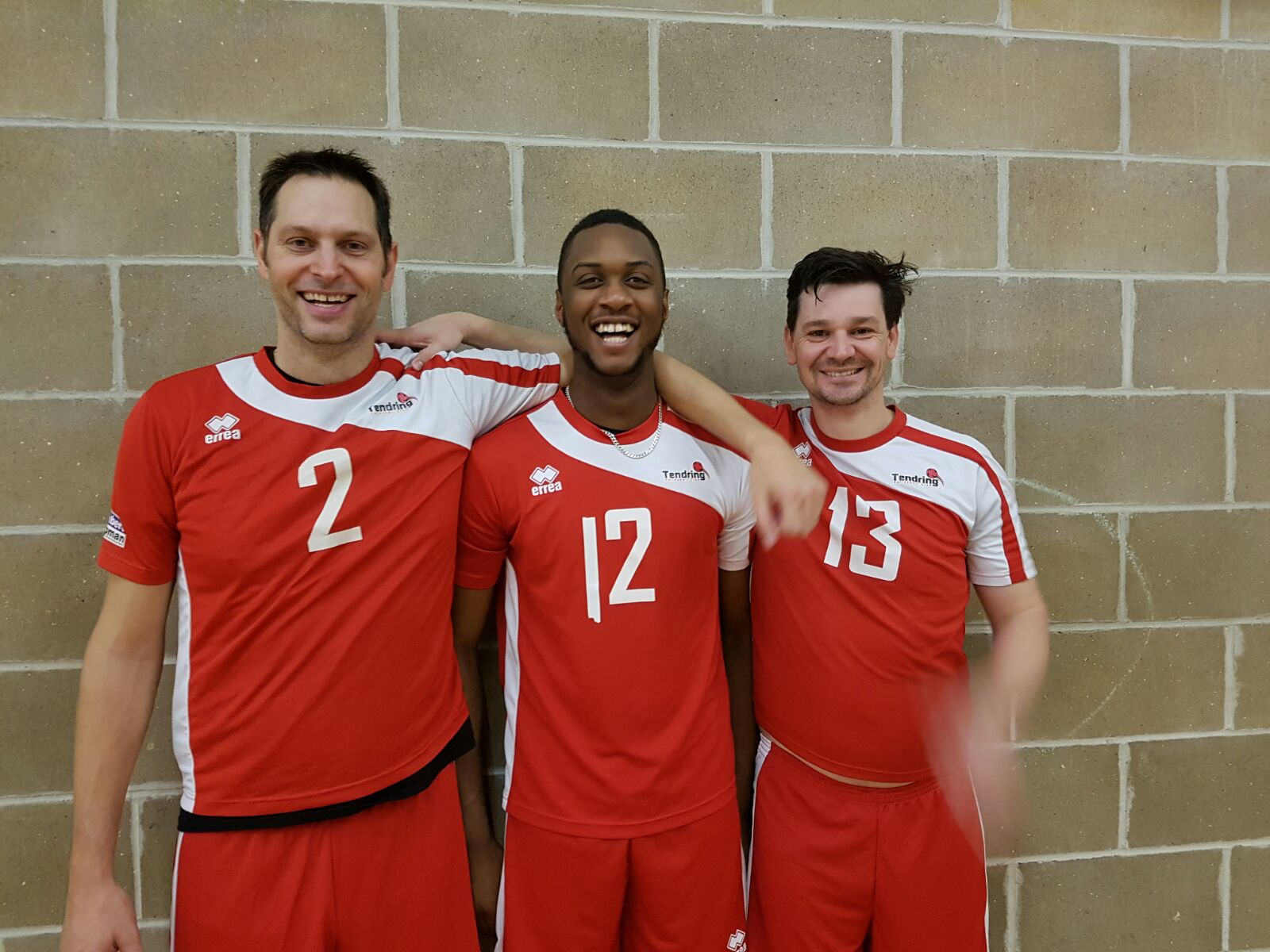 Tendring Volleyball Jermaine Miles with Porter and Masters